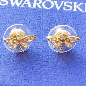 Swarovski Small Dragonfly Earrings
